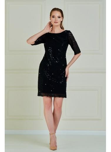 JEANNE D'ARC Elbise Siyah